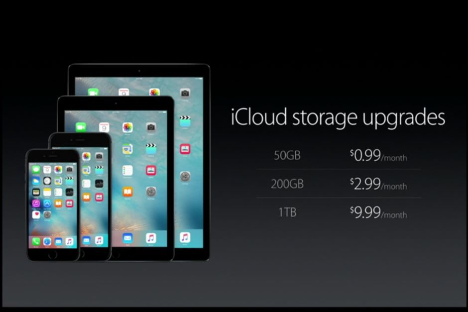 New storage plans:Apple also announced upgraded iCloud storage plans