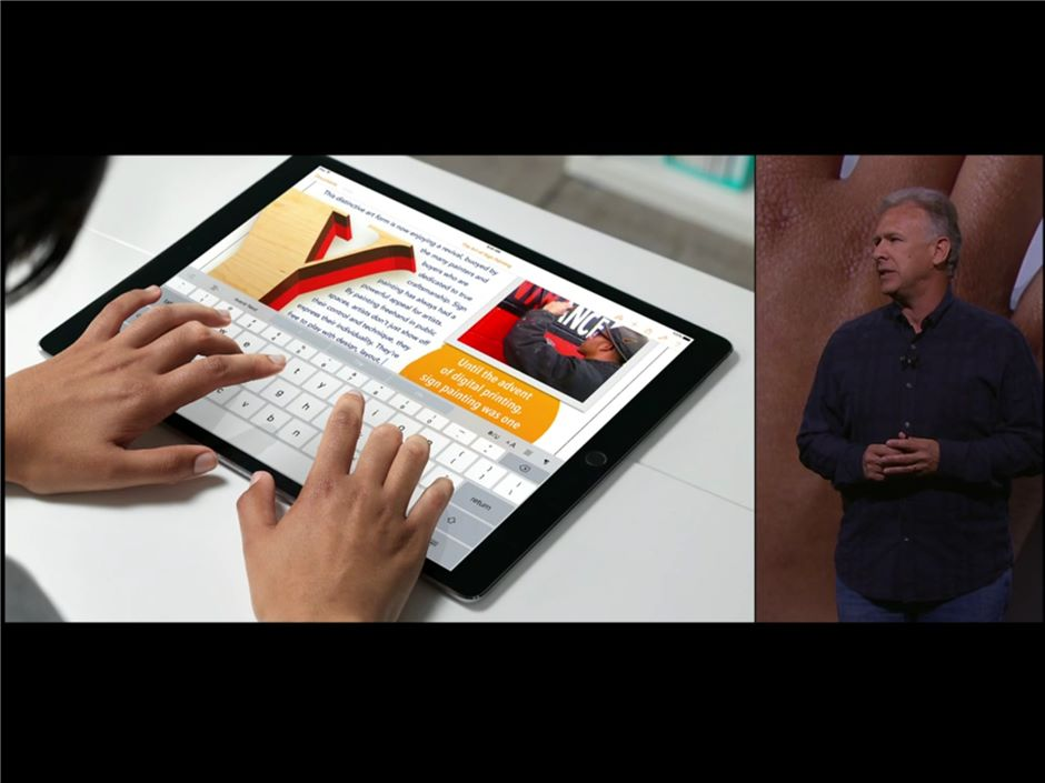 Bigger is better: The iPad Pro's 12.9in screen and more powerful processor allows for easy typing and a more notebook-like experience