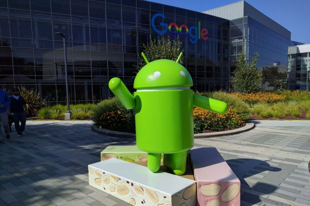 Newest sweet treat: Google shared the event in a Twitter message tagged #AndroidNougat and containing a looped snippet of video of the undraping of an Android statue standing atop giant nougat and nut bars. — Google